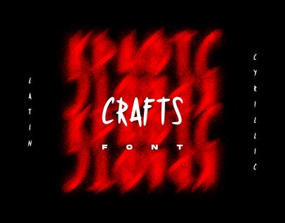 CRAFTS. Font
