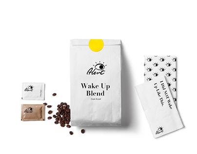 """Alert"" Coffee Brand Identity"