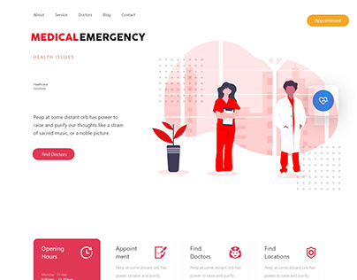 MEDICAL EMERGENCY LANDING PAGE & UI DESIGN