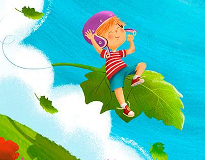 Digital illustration: flying with imagination