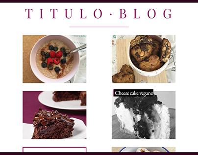 Blog personal minimalista