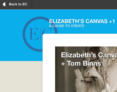 Elizabeth's Canvas Plus One Campaign Website