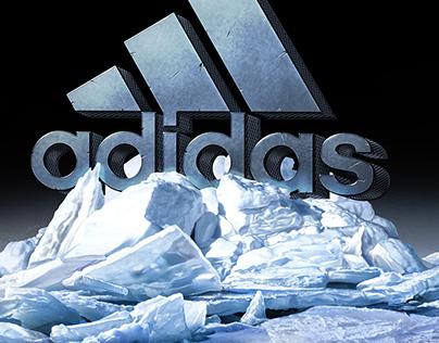 adidas Logo on Ice