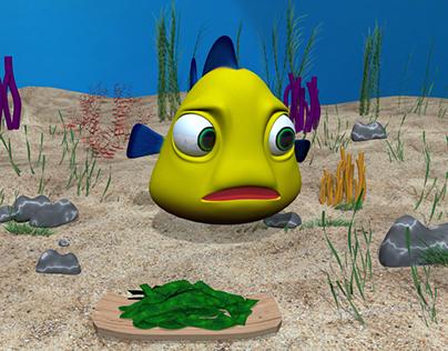3D Cartoon Fish Animation