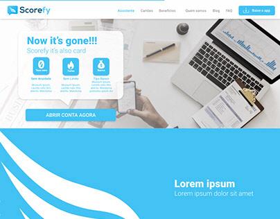 SCOREFY - Landing Page