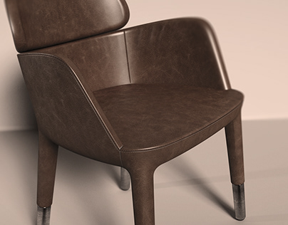 Ester Arm Chair Rendering