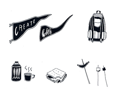 Creative Mornings Summit Camp Illustrations