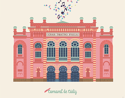 Ilustración Carnaval de Cádiz