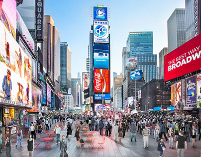 Time Square rendering