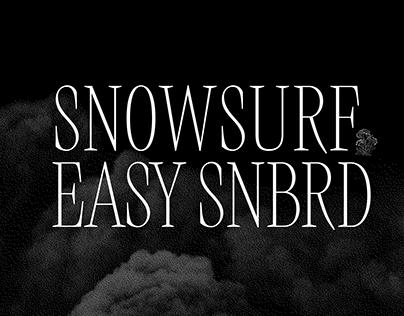 SNOWSURF magazine [illutration, typography]