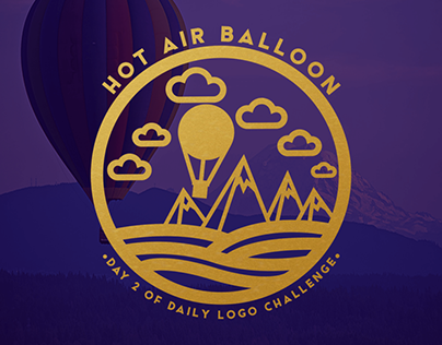 Hot Air Balloon   #DailyLogoChallenge