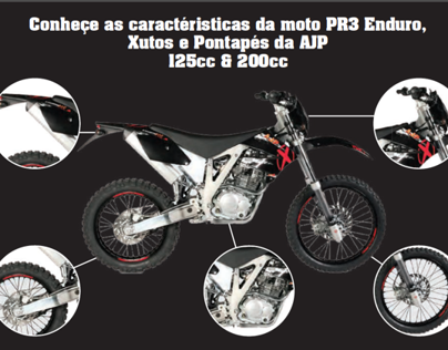 Campanha Below the line para a moto PR3 Enduro