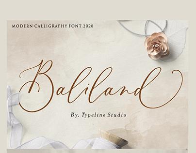 Baliland Modern Calligraphy Font