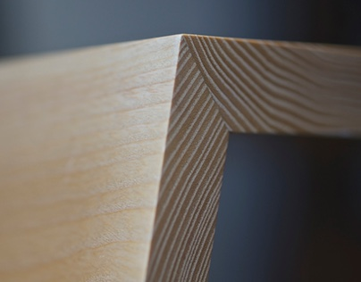The Origami Low Coffee Table in English Ash