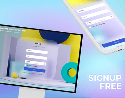 Signup #CreateWithAdobeXD