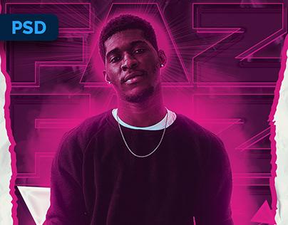 Neon DJ Flyer - PSD Template