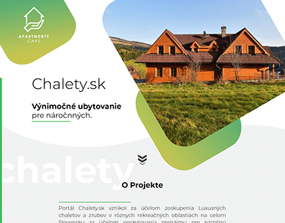 Web design for Chalety