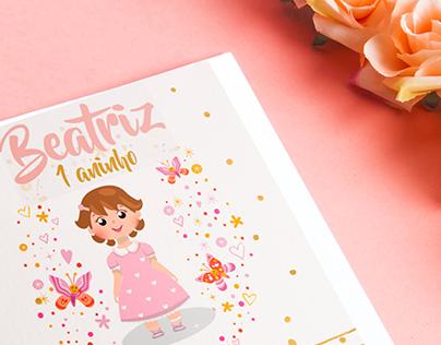 Convite de Aniversário - Beatriz
