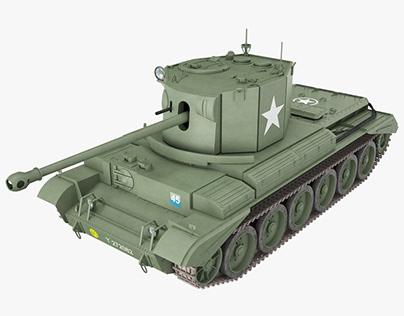 Cruiser Tank Challenger A30 Green