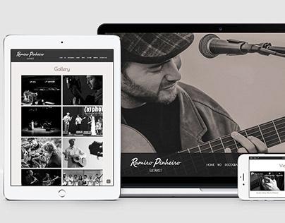Responsive web design: Ramiro Pinheiro - Musician
