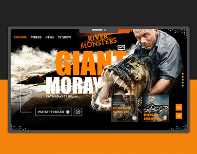River Monsters | Redesign UX/UI