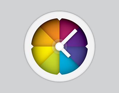 Wall Clock HD Icon Design