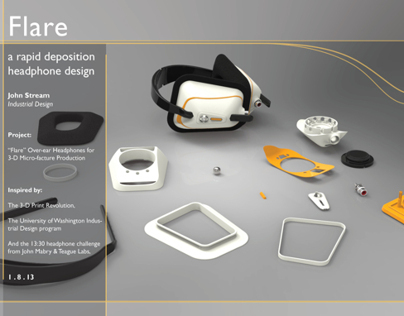 Flare: a rapid deposition headphone design