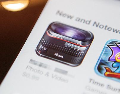 50mm Lens iOS Icon