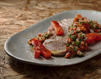 Pork Secreto & Chimichurri – Food Photography