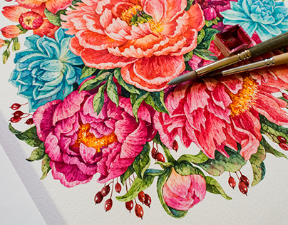 Flowers / watercolor
