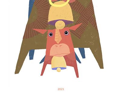NewYearCard 2021-ushi