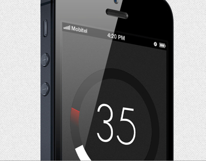 Speed Limit -  iPhone App Design Concept