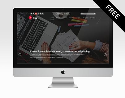 TEC Blog Template v1 UI/UX Web Design