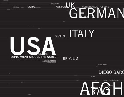 Typographic Word Map | US Deployment (1950-2010)