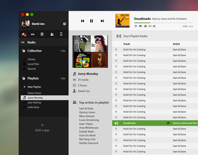 Spotify Desktop Interface Concept