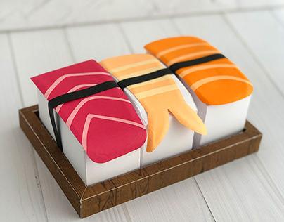 Paper Sushi Box Set