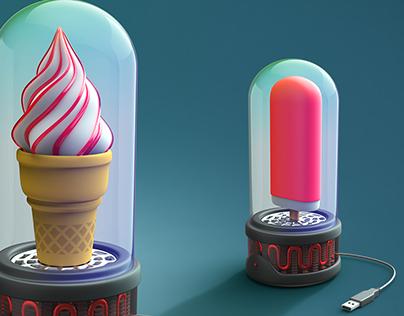 USB ice cream freezer