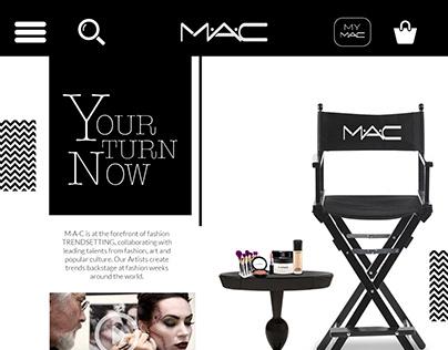 MAC - website design concept
