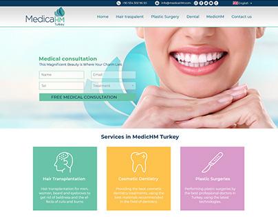 Website for Medica HM