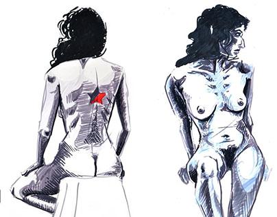 Bocetos de desnudo en vivo - 2016