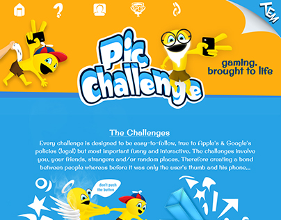Pic Challenge Mobile App Landing Page
