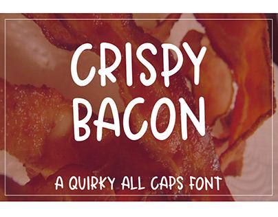 Crispy Bacon - A quirky all caps font