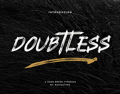 Doubtless hand brush typeface