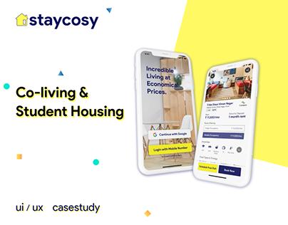 Co-living & Student Housing App - UI UX CaseStudy