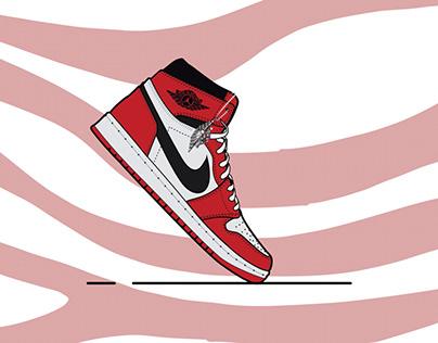 Nike air Jordan 1 illustration