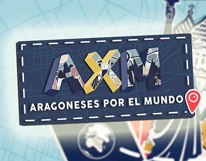 """Identidad visual del programa """"Aragoneses por el mundo"""""""