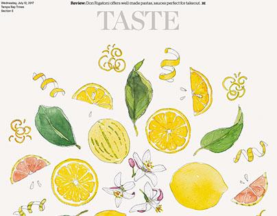 Lemon Illustration for Tampa Bay Times Food