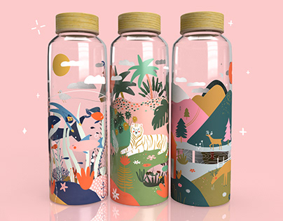 Glass bottles║ Illustration