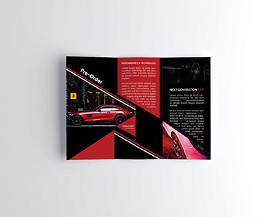 Brochure for Car Company