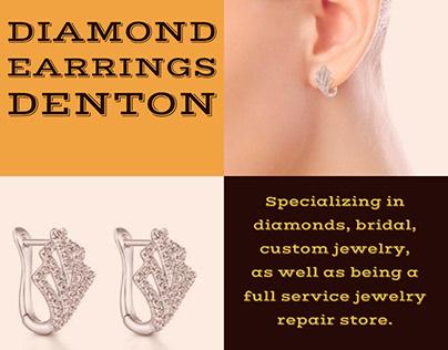 Diamond Earrings Denton | Call - 940 383-3032